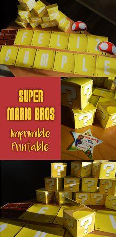 Candy Bar Super Mario Bros Printable. Imprimible.
