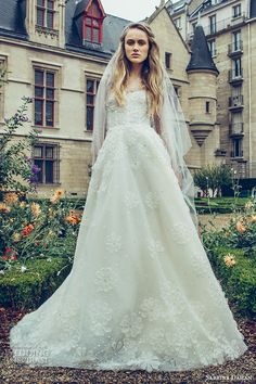 sabrina dahan bridal fall 2016 long illusion sleeves jewel sheer neckline sweetheart cut foundation beautiful a  line wedding dress style elodie
