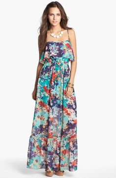 As U Wish Cutout Back Maxi Dress