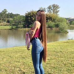 Really Long Hair, Long Brown Hair, Super Long Hair, Looks Pinterest, Red Hair Woman, Rapunzel Hair, Beautiful Long Hair, Love Hair, Hair Pictures