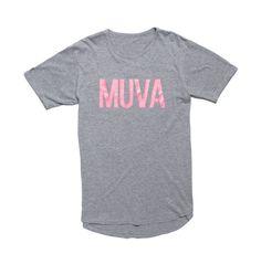 MUVA Scallop Unisex Tee - Athletic Grey