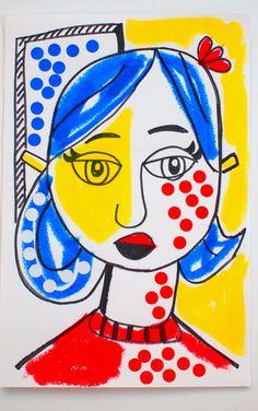 Making Lichtenstein-inspired Modern Art.                         Gloucestershire Resource Centre http://www.grcltd.org/scrapstore/