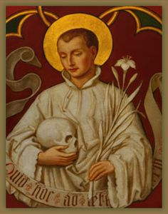 St. Aloysius Gonzaga, Roman Catholic Jesuit Priest. He served in a hospital during the plague of 1587 in Milan, and died from it at the age of 23. Feastday: June 21