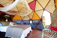 30 Airbnbs That Will Blow Your Mind (Not Your Budget)  #refinery29  http://www.refinery29.com/crazy-airbnb-rentals#slide-16  Geodesic Dome, Andalusia, SpainSet on the grounds of a larger guesthouse, this igloo-like white pod contains a beautiful, colorful interior. Here, guests get comfort, privacy, and quirk, plus their own dining table in the sun and access to additional facilities in the main guesthouse — it's a win all around.$33/night