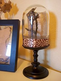 Wonderful Steampunk display Cloche - DIY for about $2.50!!! Love this display idea! Great tutorial!