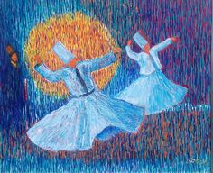WHIRLING DERVISHES (COLORFUL and GRACEFUL)- 124 Acrylic on canvas 40x60 2015