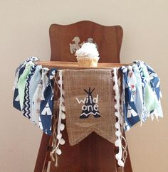 Love this high chair banner for a wild one cake smash and party! Found on Etsy! Wild One Birthday High Chair Banner/ TeePee Aztec Pow Wow Woodland Arrows Camping Theme/Cake Smash/Photo Shoot Prop/Boy