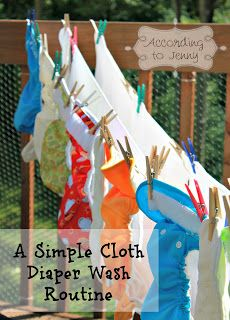 Keepin' It Simple, A Cloth Diaper Wash Routine. Follow this wash sequence: RINSE (cold), WASH (hot) with detergent, RINSE (cold). That's it. Keep it simple. No need to rinse a million times. Once is enough.