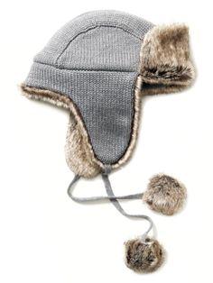 BANANA REPUBLIC Wool knit trapper hat, $49.50 at Banana Republic, 28 Newbury Street, Boston, 617-267-3933, and other locations, bananarepublic.com