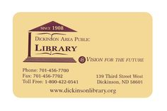 Dickinson Area Public Library - Dickinson North Dakota
