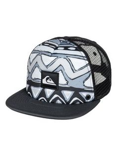 Foto e-commerce para Quiksilver - Boné masculino Boardies, ANTHRACITE* (kvj0) Flat Bill Hats, Cowboy Up, Mesh Cap, Dad Hats, Snapback Cap, Baseball Cap, Galaxy Wallpaper, Mens Fashion, 1