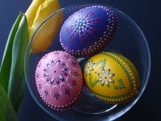 Easter Eggs, Traditional Polish Eggs, Wax-Embossed Chicken Eggs, Easter Decoration