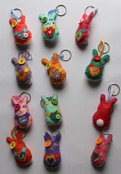 Patchyz - Bunny Rabbit key chain unique collectable original designed by Kathleen Flask