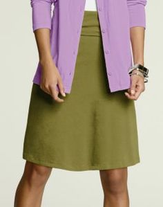 Womens Hanes Signature® Foldover Skirt | Style # 25175 | Hanes.com