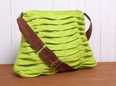Crossbody Tote Handbag Purse in Bright Grass Green por JulieMeyer, $74.00