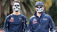 Daniel Ricciardo & Max Verstappen join in with the Mexican 'Day of the Dead' celebrations #RedBull #Formula1 #MexicanGP
