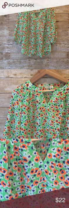 Floral blouse Retail. New without tags or packaging. Size medium. 100% polyester. Only 1 available Tops Blouses