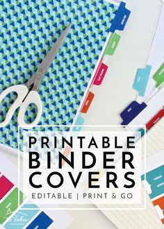 Customize your binders, notebooks and other back-to-school supplies with fully editable and customizable Printable Binder Covers, Dividers, and Tabs! Binder Tabs, Binder Dividers, Planner Tabs, Binder Covers, Binder Cover Templates, Planner Board, Planner Ideas, Life Planner, Happy Planner