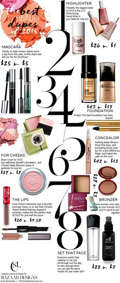 THE BEST BEAUTY DUPES OF 2015 Beauty & Personal Care - skin care face - http://amzn.to/2kVpuh4