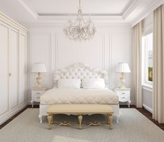 classic gold design along with classic bedroom interior design ideas design designs ideas classic home interior design ideas along with decorating: classic bedroom interior design ideas White Bedroom Design, Bedroom Colors, Home Decor Bedroom, Modern Bedroom, White Bedrooms, Bedroom Ideas, Bedroom Simple, Bedroom Designs, Bedroom Classic