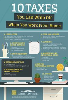 Having a work at home job offers convenience and flexibility. And you can also benefit from the number of taxes you can write off when working from home. Financial Tips, Financial Planning, Business Planning, Business Tips, Business Money, Financial Business Plan, Business Bank Account, Business Baby, Finance Business