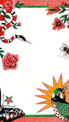 14cc8d1a7 #gucci #wallpaper #iphone Gucci Wallpaper Iphone, Snake Wallpaper, Cool  Wallpaper,