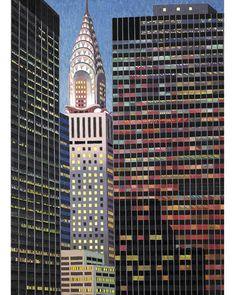 New York Artist Yvonne Jacquette's Landscape Paintings - ELLE DECOR
