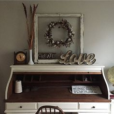 34 ideas farmhouse desk redo for 2019 Refurbished Furniture, Upcycled Furniture, Vintage Furniture, Cool Furniture, Office Furniture, Repurposed Desk, Painted Furniture, Desk Redo, Desk Makeover