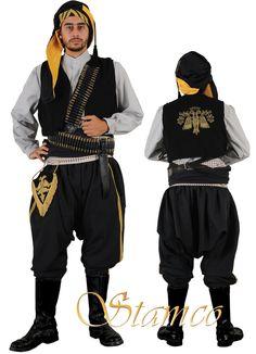 Traditional festive costume from 'Pontos' (= Turkish Black Sea coast &… Greek Traditional Dress, Traditional Outfits, Greek History, Folk Dance, Black Sea, Folk Costume, Man, Muslim, Greece