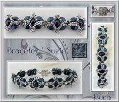 Schema bracelet Suzie by Pucashop on Etsy