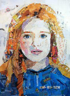 Girl in Blue  Collage at SusanLydenArtWorks on Etsy