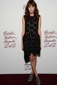 British Fashion Awards 2012: Alexa
