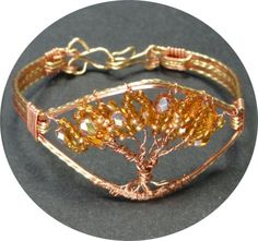 Copper and Gold tone Tree of Life Bracelet