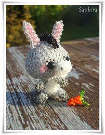 """Inspiriert von Luna habe ich mich an einem Eselchen versucht, Die """"Mehlnase"""" ist wieder ala Jenny geperlt. Hier mal das Störische Langoh..."""