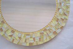 Round Gold Mosaic Mirror