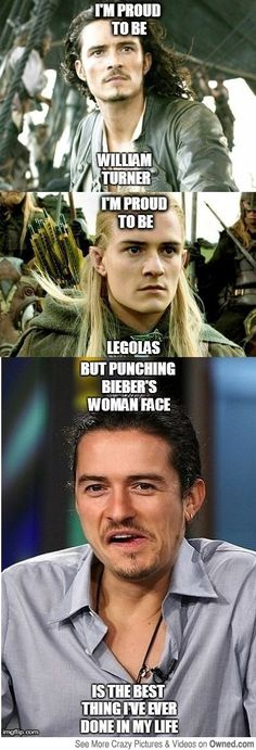 """they hate bieber. they want him dead. orlando didnt even want him dead. he just wanted to hit him"" favvv ""they hate bieber. they want him dead. orlando didnt even want him dead. he just wanted to hit him"" favvv William Turner, Orlando Bloom Legolas, Funny Quotes, Funny Memes, Hilarious, Jokes, Film Pirates, Kelly Hu, Citations Film"