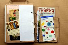 LONDON travel journal- she has lots of great scrapbooks!