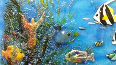 Sealife Glass Kitchen Backsplash | Designer Glass Mosaics|Designer Glass Mosaics