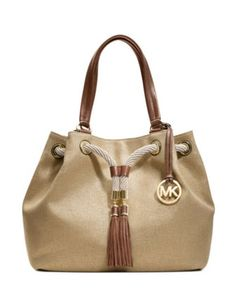 ae66350a0a3b See more. MICHAEL MICHAEL KORS Marina Large Gathered Metallic Tote Bag  Michael Kors Shoulder Bag, Michael Kors