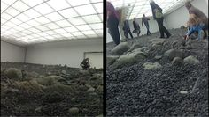 On foot through Riverbed in Louisiana Museum of Modern Art, Denmark.  #gopro