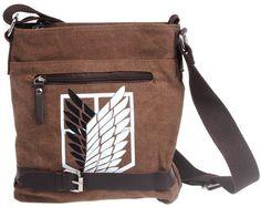 NEW Attack on Titan Shingeki No Kyojin Survey Cops Canvas Shoulder Messenger Bag
