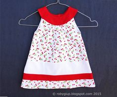 Girl dress round neckline flared dress A-line cotton by RobyGiup