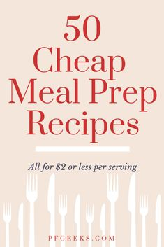 Want to dominate your next meal prep & create a weekly meal plan? THIS is the guide for you with 50 cheap meal prep recipes to meal prep on a budget! Meal Prep Guide, Easy Meal Prep, Healthy Meal Prep, Healthy Recipes, Cheap Recipes, Meal Prep Cheap, Easy Recipes, Healthy Food, Frugal Meals