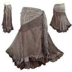 Peasant-Boho-Hippie-Gypsy-Tie-Dye-Crochet-Tie-Waist-Skirt-NG6 by cathywilson