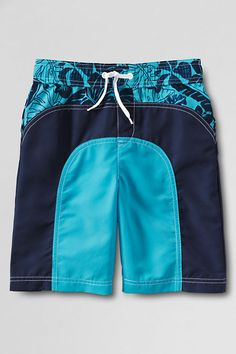 Boys' Colorblock Pieced Swim Trunks from Lands' End Back To School For Teens, Kids Outfits, Casual Outfits, Beach Attire, Lands End, Swim Trunks, Color Blocking, Clothes For Women, Boys
