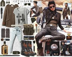 """""""Get the look : Army Chic"""" by elske88 ❤ liked on Polyvore"""