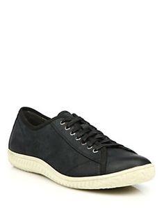 John Varvatos Star USA - Hattan Nubuck Leather Low-Top Sneakers