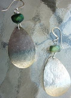 hammered spoon earrings