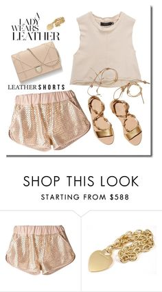 """""""Leather Shorts"""" by adduncan ❤ liked on Polyvore featuring Drome, Loeffler Randall, Tiffany & Co., contest and Leather"""