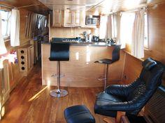 Interior of hullabaloo narrow boat